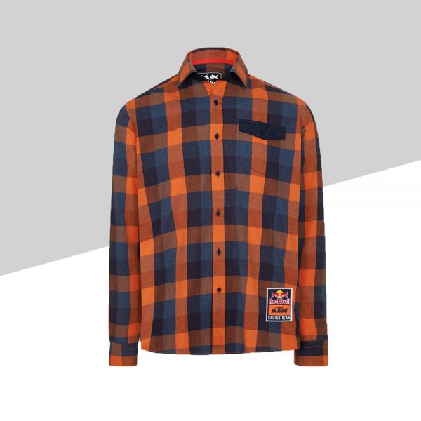 RB KTM Letra Checked Shirt fronte | Giglioli Motori