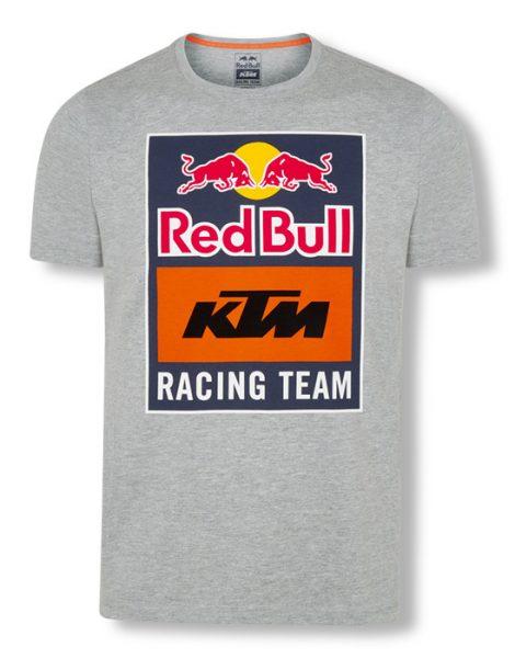 RB KTM Emblem Tee Grey fronte bianco   Giglioli Motori