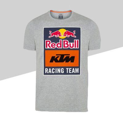 RB KTM Emblem Tee Grey fronte | Giglioli Motori