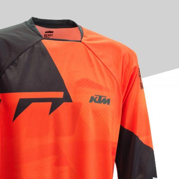 Pounce Shirt Orange dettaglio | Giglioli Motori