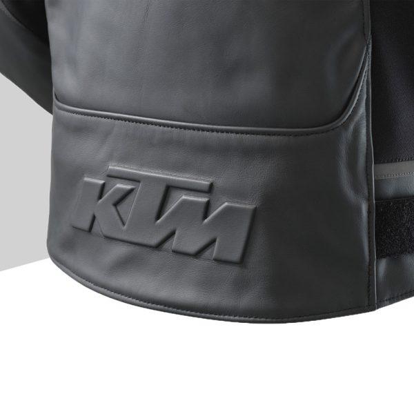 3PW21000670X RESONANCE LEATHER JACKET Detail KTM Logo back mod