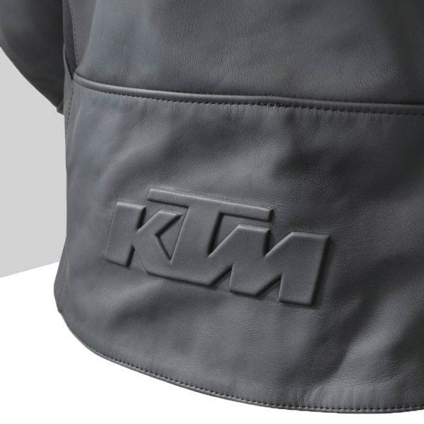 3PW21002520X Empirical Leather Jacket Detail KTM Logo back mod