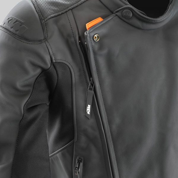 3PW21002520X Empirical Leather Jacket Detail Reissverschluss mod
